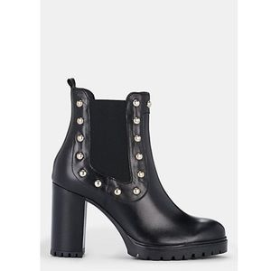 Barneys NY Stud-Embellished Leather Chelsea Boots